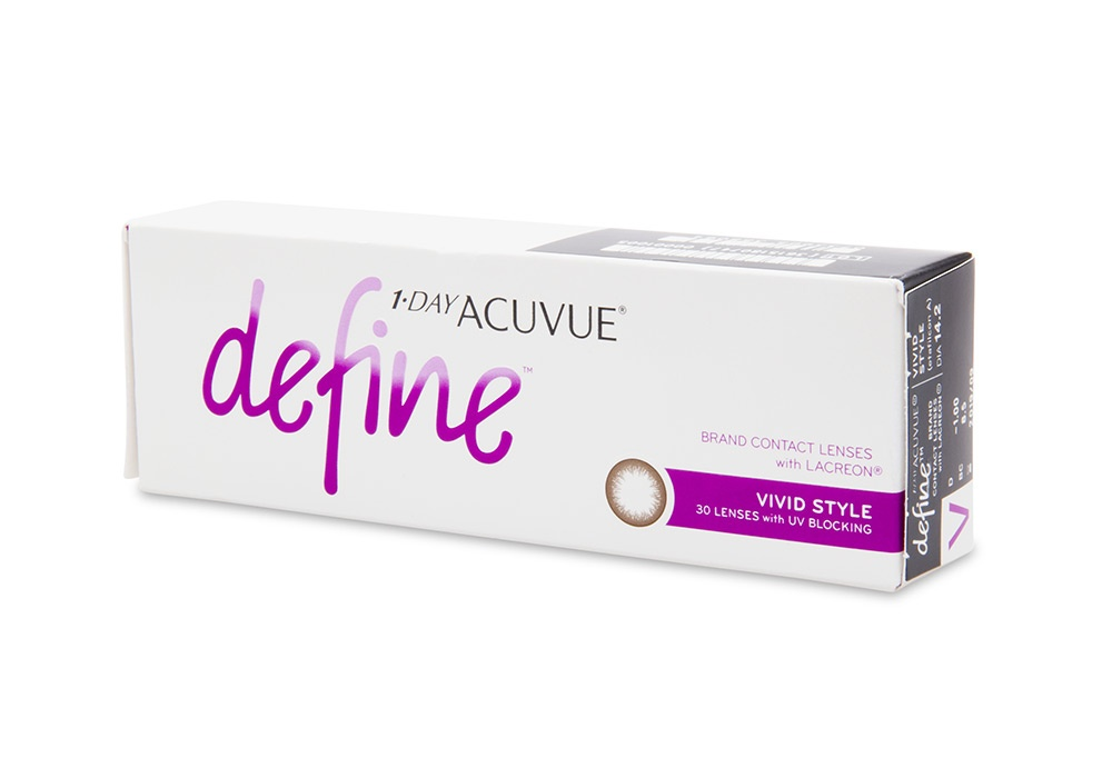 1 Day Acuvue Define Vivid Style Contact Lenses Online 30 Pack Daily - Johnson & Johnson Clearly