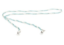 Beaded Chain K127 Blue Clear