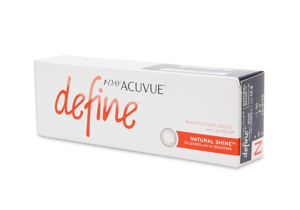 1 Day Acuvue Define Natural Shine Contact Lenses Online 30 Pack Daily - Johnson & Johnson Clearly