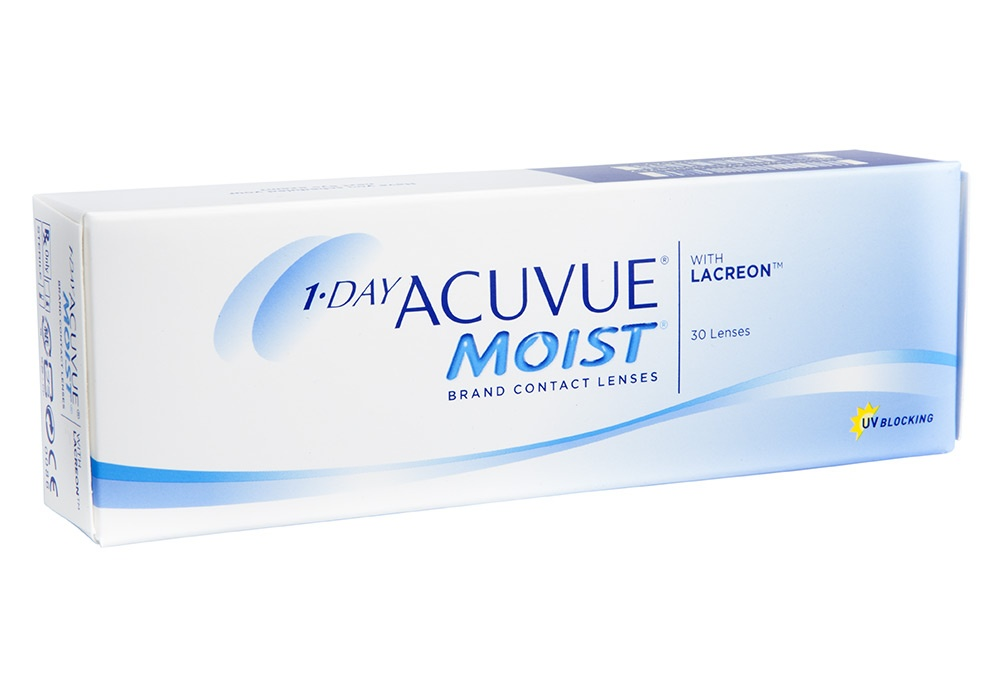 1 Day Acuvue Moist Contact Lenses Online 30 Pack Daily - Johnson & Johnson Clearly