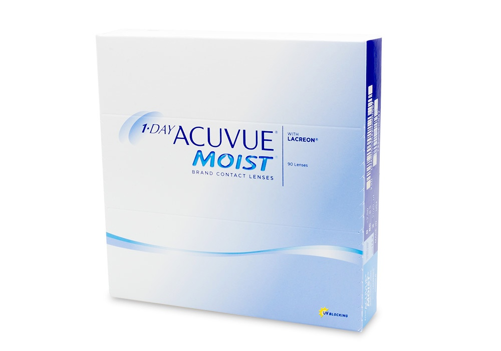 1 Day Acuvue Moist Contact Lenses Online 90 Pack Daily - Johnson & Johnson Clearly