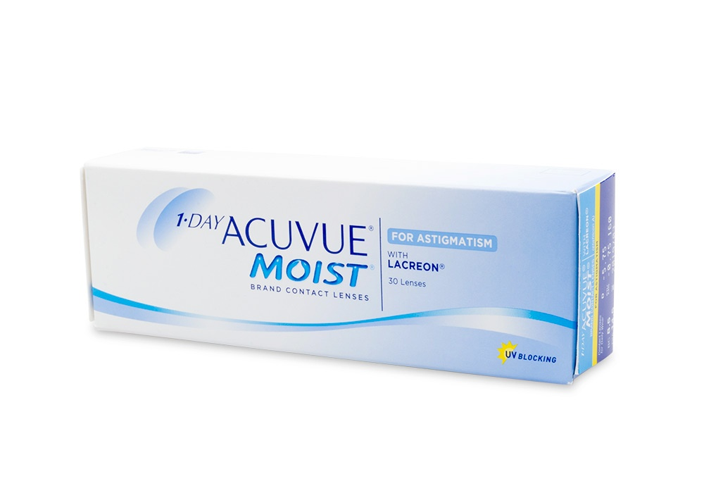 1 Day Acuvue Moist for Astigmatism Contact Lenses Online 30 Pack Daily Toric/Astigmatism - Johnson & Johnson Clearly