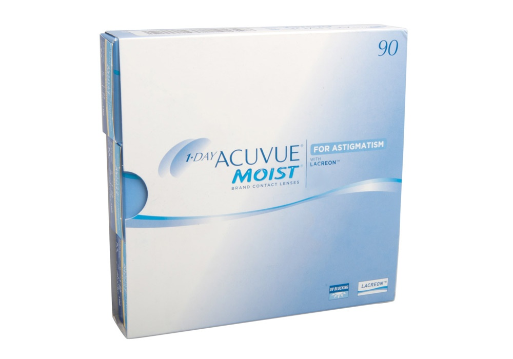 Acuvue Moist Contact Lenses Online 90 Pack Daily Toric/Astigmatism - Johnson & Johnson Clearly