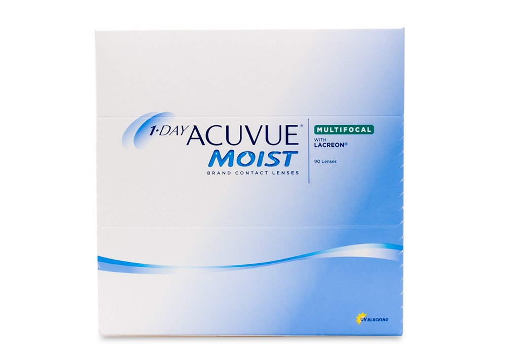 1 Day Acuvue Moist Contact Lenses Online 90 Pack Daily Multifocal - Johnson & Johnson Clearly