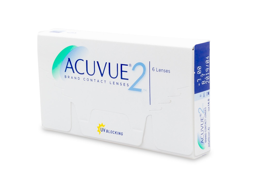 Acuvue 2 Contact Lenses Online 6 Pack Weekly - Johnson & Johnson Clearly