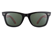 Ray-Ban RB2140 1016 Black on Red White 50